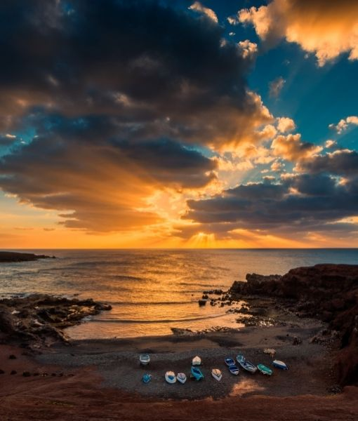 tramonto in lanzarote